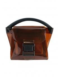Zucca mini borsa in plastica trasparente marrone online