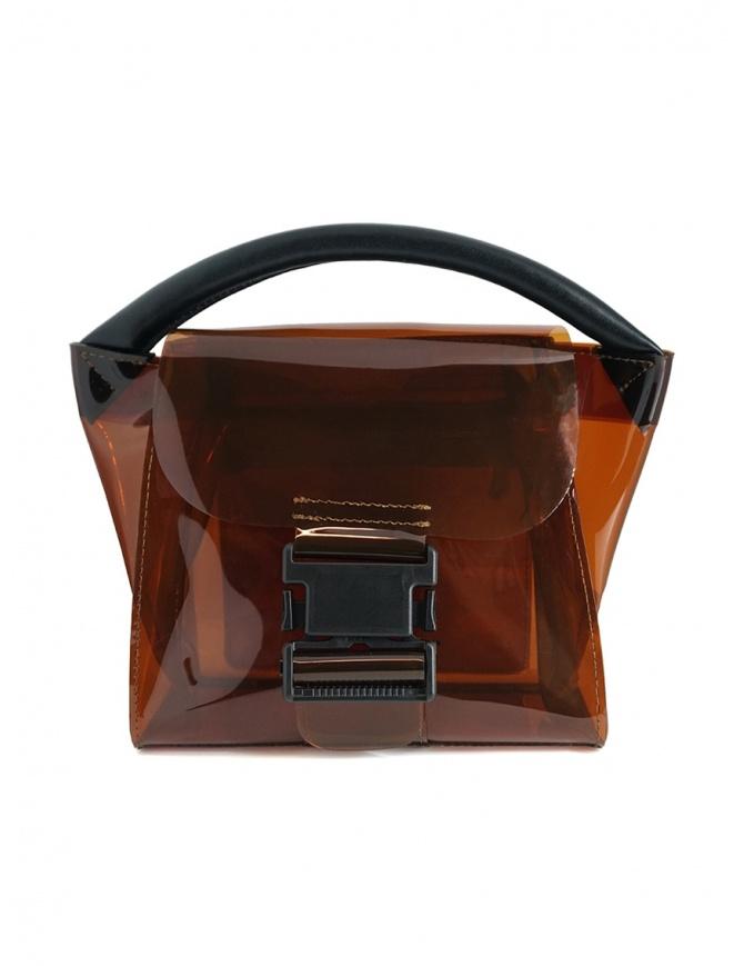 Zucca mini borsa in plastica trasparente marrone ZU07AG268-05 BROWN borse online shopping