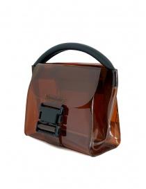 Zucca mini borsa in plastica trasparente marrone