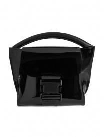 Zucca mini borsa in PVC nera trasparente online