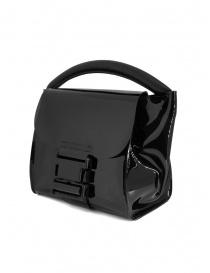 Zucca mini borsa in PVC nera trasparente