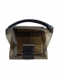 Zucca mini borsa in PVC trasparente grigio online