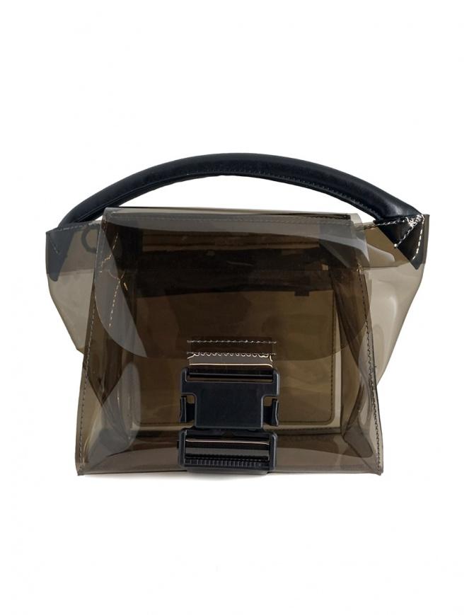 Zucca mini borsa in PVC trasparente grigio ZU07AG268-24 GRAY borse online shopping