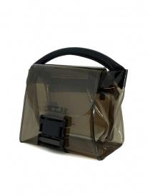 Zucca mini borsa in PVC trasparente grigio