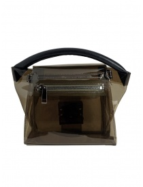 Zucca mini borsa in PVC trasparente grigio prezzo