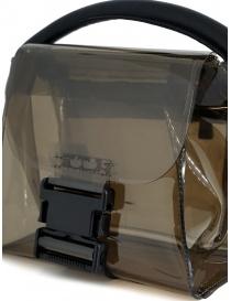 Zucca mini borsa in PVC trasparente grigio borse acquista online
