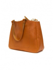 Slow Bono bag in orange leather with linen bag price
