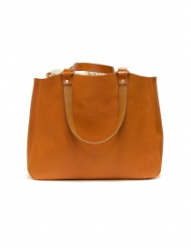 Slow Bono bag in orange leather with linen bag bags buy online