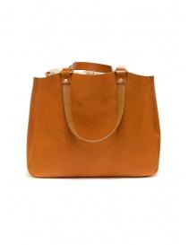 Slow borsa Bono in pelle arancione con sacca in lino borse acquista online