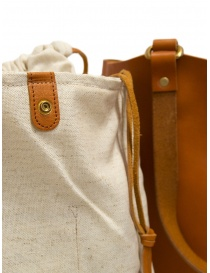 Slow Bono bag in orange leather with linen bag bags price