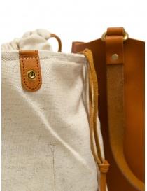 Slow borsa Bono in pelle arancione con sacca in lino borse prezzo