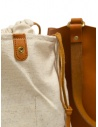 Slow Bono bag in orange leather with linen bag price 4920003 BONO CAMEL shop online