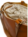 Slow Bono bag in orange leather with linen bag price 4920003 BONO CAMEL shop online