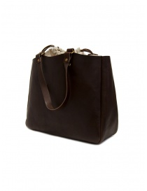 Slow Bono tote bag in brown leather and linen price