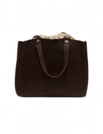 Slow borsa Bono in pelle marrone e lino borse acquista online