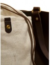 Slow Bono tote bag in brown leather and linen shop online bags