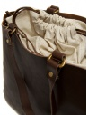 Slow Bono tote bag in brown leather and linen price 4920003 BONO CHOCO shop online