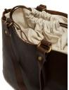 Slow borsa Bono in pelle marrone e lino prezzo 4920003 BONO CHOCOshop online