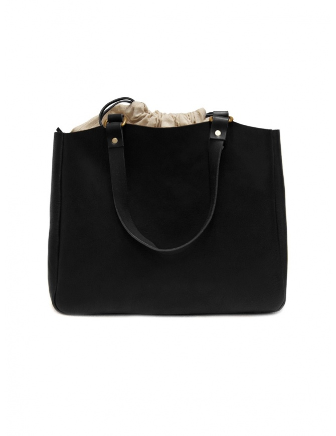 Slow Bono bag in black leather and linen 4920003 BONO BLACK bags online shopping