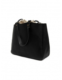 Slow Bono bag in black leather and linen price