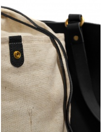 Slow Bono bag in black leather and linen bags price