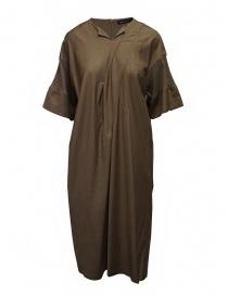 Mercibeaucoup, abito lungo beige manica a costine online