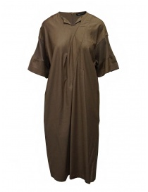 Mercibeaucoup, long beige ribbed sleeve dress MB07FH004-03 BEIGE order online