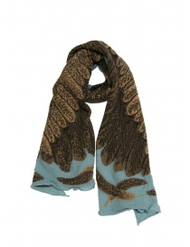 Kapital light blue scarf with brown eagle