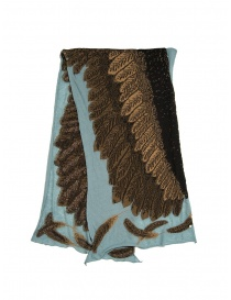 Kapital light blue scarf with brown eagle online
