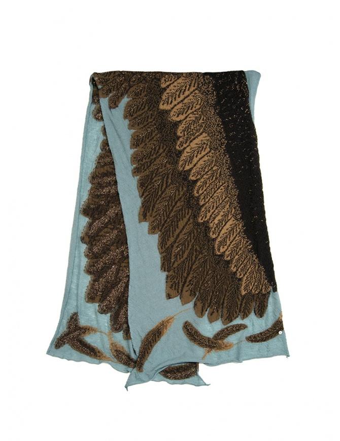 Sciarpa Kapital azzurra con aquila marrone K1911XG566 SAX sciarpe online shopping