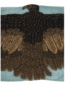 Kapital light blue scarf with brown eagle price