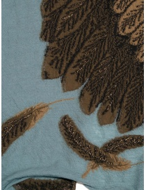 Kapital light blue scarf with brown eagle scarves buy online