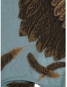 Kapital light blue scarf with brown eagle K1911XG566 SAX buy online