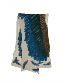 Kapital beige scarf with green and blue eagle online