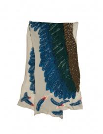Sciarpe online: Sciarpa Kapital beige con aquila verde e blu
