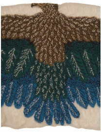 Kapital beige scarf with green and blue eagle price