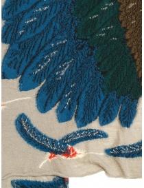 Sciarpa Kapital beige con aquila verde e blu sciarpe acquista online
