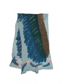 Sciarpa Kapital azzurra con aquila verde e blu online