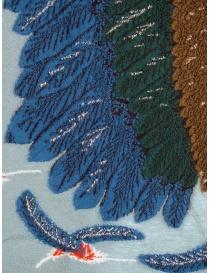 Sciarpa Kapital azzurra con aquila verde e blu sciarpe acquista online