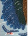 Sciarpa Kapital azzurra con aquila verde e blu K1909XG522 SAX acquista online