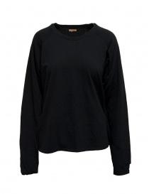 Felpa Kapital nera con smile sui gomiti EK-590 BLACK order online