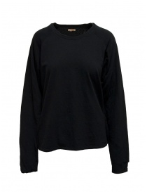 Womens knitwear online: Kapital black sweatshirt with smiley elbows