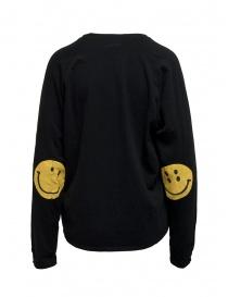 Kapital black sweatshirt with smiley elbows buy online