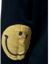 Felpa Kapital nera con smile sui gomiti EK-590 BLACK prezzo