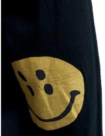 Kapital black sweatshirt with smiley elbows mens knitwear buy online
