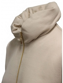 Mercibeaucoup, sweatshirt with beige balloon collar price