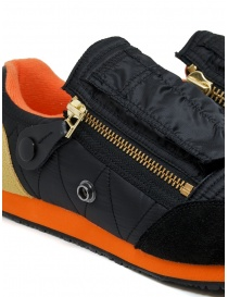 Kapital black sneaker with zippers and smiley mens shoes buy online