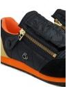 Kapital black sneaker with zippers and smiley EK-799 BLACK buy online