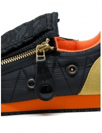 Kapital black sneaker with zippers and smiley buy online price