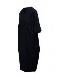 Mercibeaucoup, abito lungo blu manica a costine